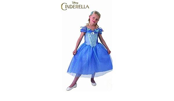 Disney Princesas Disfraz Cenicienta Live Action, para niñas, talla L, color azul (Rubies 610777-L): Amazon.es: Juguetes y juegos
