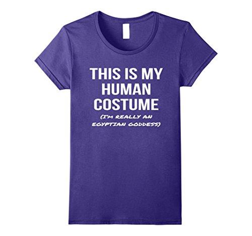 Egyptian Goddess Halloween (Womens Human Costume I'm an Egyptian Goddess Shirt Halloween Tee Medium Purple)