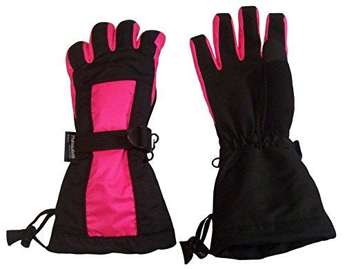 N'Ice Caps Adults Unisex 100 Gram Thinsulate Premier Long Cuff Snowboard Glove