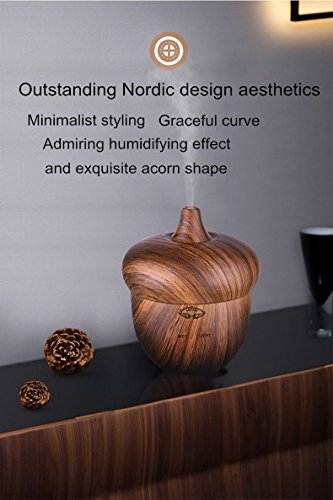 t Humidifier -Aromatherapy Essential Oil Diffuser -Natural Rose Wood Grain Finish -Touch Button Mist Control, Light & Timer Modes -Quiet Ultrasonic Function -300 Ml Water Tank ()