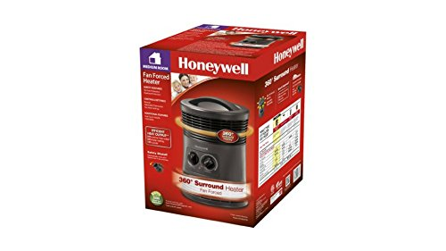 360 Degree SafetyTip 2 Heat Settings Electric Heater by Honeywell*