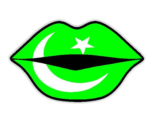 Kissing lips pakistan flag car sticker sign decal bumper sign buy online in uae products in the uae see prices reviews and free delivery in dubai