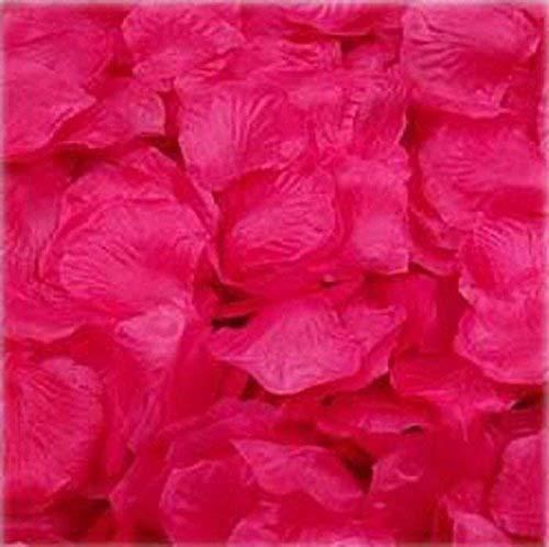 Rose Bouquet Pink Hot (1000pcs Hot Pink Silk Rose Petals Bouquet Artificial Flower Wedding Party Aisle Decor Tabl Scatters Confett)