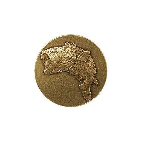 Lapel Pin Brass Bass 3/4