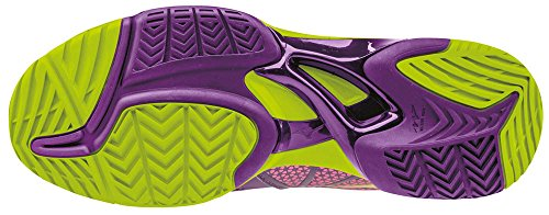 Tennis Shoes Exceed Electric Wave Pansy Purple Ac Tour Mizuno Women's WOS Limepunch Y1qE6