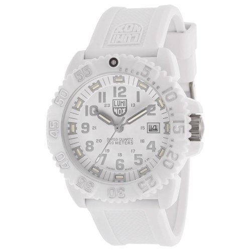 Luminox All-White Snow Patrol Navy Seal Colormark - PC Carbon Case
