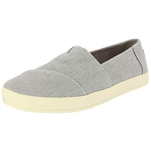 TOMS Women's Avalon Drizzle Grey Heavy Canvas 8.5 B US (Light Toms Gray)