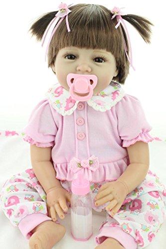 """OCSDOLL MaiDe Reborn Baby Dolls 22"""" Cute Realistic Soft Silicone Vinyl Dolls Newborn Baby Dolls with Clothes"""