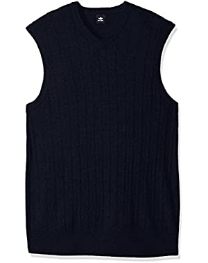 Men's Big and Tall Soft Acrylic Solid Cable Links Links-Vest