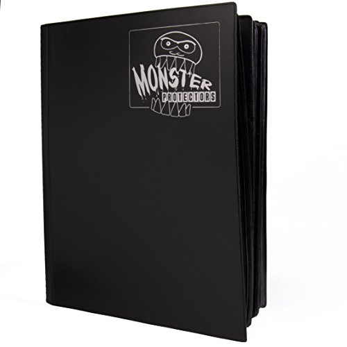 (Mega Monster Binder XL Size - Twice as Large as a Standard 9 Pocket Trading Card Binder with Huge 720 Card Capacity - Fits Yugioh, Magic and Pokemon- Black)