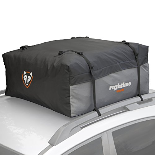 Rightline Gear 100S10 Sport 1 Car Top Carrier, 12 cu ft, Waterproof, Attaches With or Without Roof Rack - Wood 12' Part