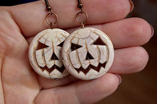 Halloween Earrings Pumpkin Gemstone Earring Harvest Fall Autumn wedding hippie Thanksgiving Jewelry -
