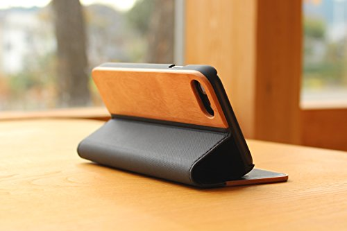 + LUMBER by Hacoa PL057 Wooden iPhone Case for iPhone 8/7 with Flip Cover (Walnut) 5 Hard case made with natural wood and corner bumper to protect your smartphone. Made to fit your iPhone 7 (4.7inch) offering a full access to all buttons. Flip cover with premium wood normally used in fine cabinetwork has a card slot.