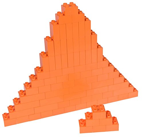 Strictly Briks Classic Big Briks by Building Brick Set 100% Compatible with All Major Brands | 3 Large Block Sizes For Ages 3+ | Premium Orange Building Bricks | 84 Pieces