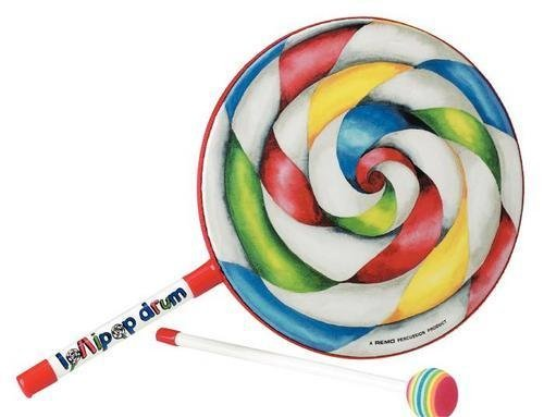 Diaper Lollipop - Remo ET-7110-00 Kids Percussion Lollipop Drum, 10