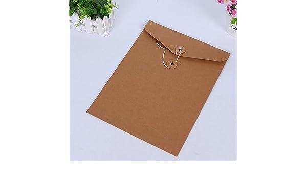 Useful Bolso de Las Carteras del documento del Bolso del Papel A4 de Kraft del Estilo Simple 5Pcs Ari_Mao: Amazon.es: Electrónica