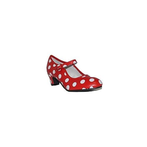 exuberante en diseño varios estilos estilo de moda Bubble - SEVILLANA Lunares B119 - Rojo, 36: Amazon.es ...