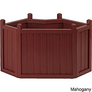 Cal Flame All Weather Composite Corner Planter (34 inches) Red