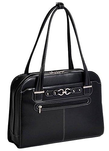 Women's Laptop Case, Leather, Small, Black - MAYFAIR | Mcklein - 96305