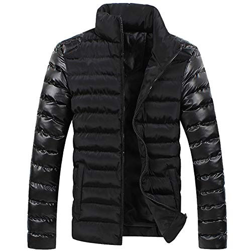 Allywit Men Fashion Stand Collar Zipper Warm Cotton Winter Thick Coat Jacket by Allywit (Image #4)