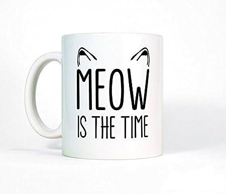 Diseño de taza de gato diseño de gato es el tiempo taza de café taza de cerámica diseño de gato, gato taza de café, gran taza, los gatos, cita, ...