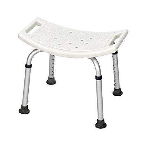 Healthline Trading Bath Bench Adjustable Height, Lightweight Shower Bench With Non-Slip Seat, White