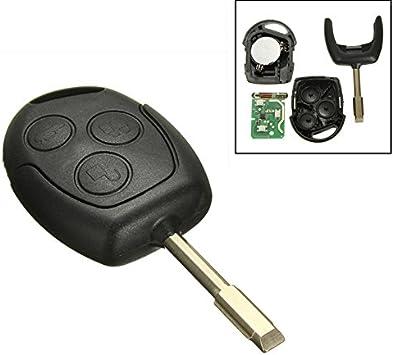Katur 1 Stück 3 Tasten 433mhz Fernbedienung Entry Schlüsselanhänger Für Ford Mondeo Fiesta Focus Ka Transit Auto