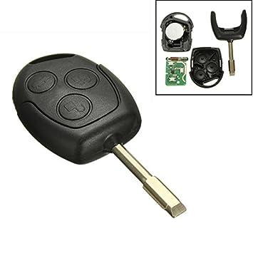 katur 1 pieza de 3 BOTONES 433mhz MANDO ENTRADA Mando Para Ford /Mondeo/Fiesta/ Focus / Ka Transit: Amazon.es: Coche y moto