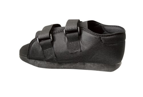Medline Semi-Rigid Post-Op Shoes, Medium, Women, Black from Medline
