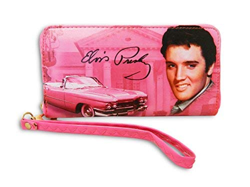 Midsouth Products Elvis Presley Wallet - Pink With Guitars, Medium