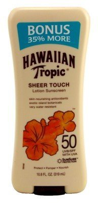 Hawaiian Tropic Sheer Touch SPF#50 Lotion 10.8 oz. Bonus (Hawaiian Tropic No Spf)