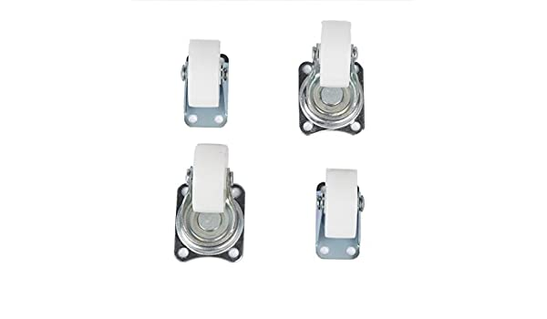 eDealMax 1.5 Rueda de tono Plata Top placa fija Rueda giratoria Set 4 piezas: Amazon.com: Industrial & Scientific