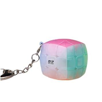 Ocamo Rompecabezas Cubo de gelatina, Juguete Educativo Cubo, 2x2 3x3 4x4 5x5 Llavero Jelly Color