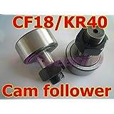 Fevas Hihg Precision NUKR40 KR40 CF18 Track Needle Bearing Cam Follower - (Color: NUKR40)
