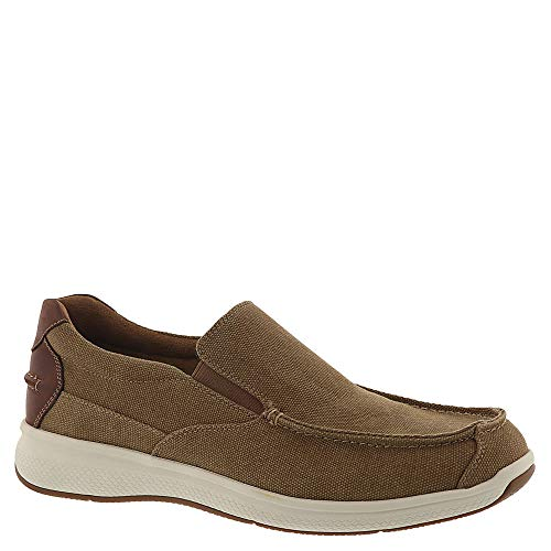 Florsheim Great Lakes Canvas Moc-Toe Slip-On Men's Slip On 13 3E US Sand ()