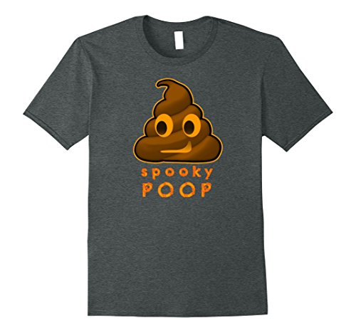 Mens Halloween Spooky Poop T-Shirt Scary Costume 3XL Dark Heather (Play On Words Halloween Costumes For Groups)