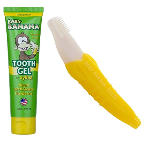 Baby Banana Bendable Training Toddler Toothbrush and