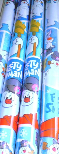 American Greetings Frosty the Snowman Gift Wrapping Paper Three Rolls