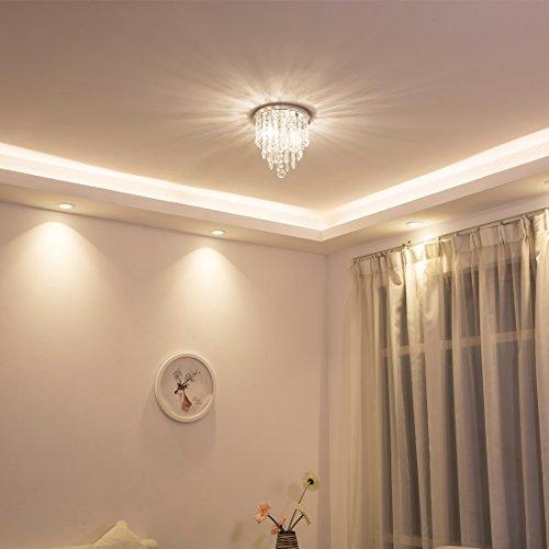 lifeholder Mini Chandelier, Crystal Chandelier Lighting, 2 Lights, Flush Mount Ceiling Light, H10.4'' x W8.66'' Modern Chandelier Lighting Fixture for Bedroom, Hallway, Bar, Kitchen, Bathroom by lifeholder (Image #2)