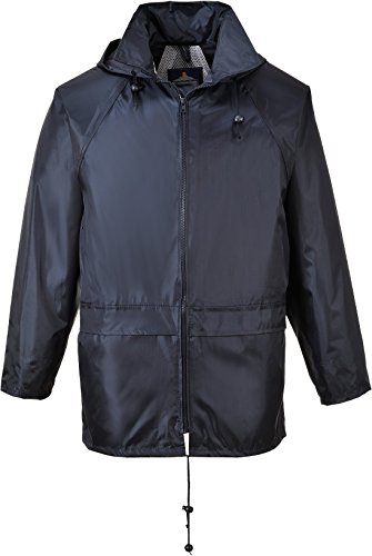 - Portwest Men's Classic Rain Jacket 4XL (Chest 56-58in) - Navy