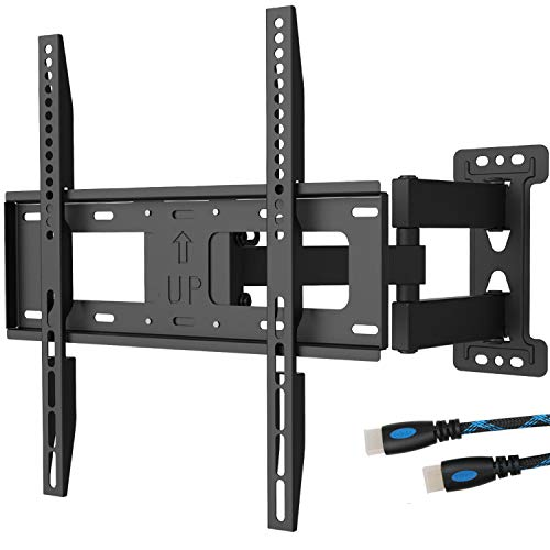 WALI TV Wall Mount Bracket Full Motion Articulating Extend Arm for Most 23-55 inches LED, LCD, OLED Flat Screen TVs up to 99lbs VESA 400x400mm with Tilting for Display (FTM-1), - Vesa Mm Displays 200
