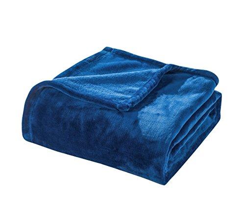 Royal Velvet Blanket - Honeymoon Velvet Flannel Fleece Throw Lightweight Cozy Plush Microfiber Blanket, Royal Blue