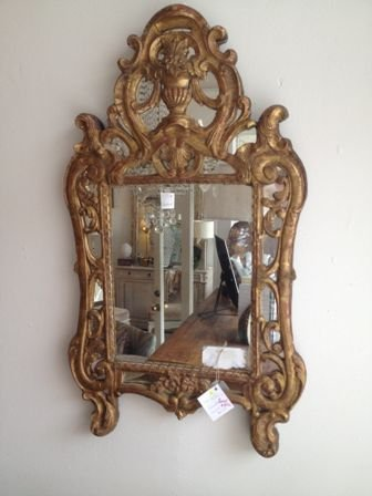 Hickory Manor House 18th Century French Mirror, Gold Leaf - 18th Century French Antiques