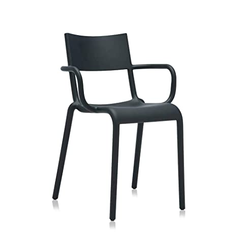 Outstanding Amazon Com Set 2 Kartell Generic A Black Armchair Chairs Inzonedesignstudio Interior Chair Design Inzonedesignstudiocom
