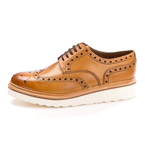 Grenson Archie White Sole Wedge Mens Tan q61q7wzp