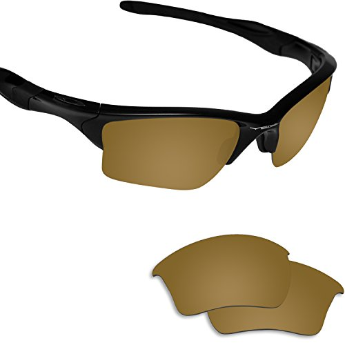6a48941cfb9e Fiskr Anti-saltwater Polarized Replacement Lenses for Oakley Half Jacket  2.0 XL Sunglasses (Bronze Gold - Anti4s Mirror Polarized