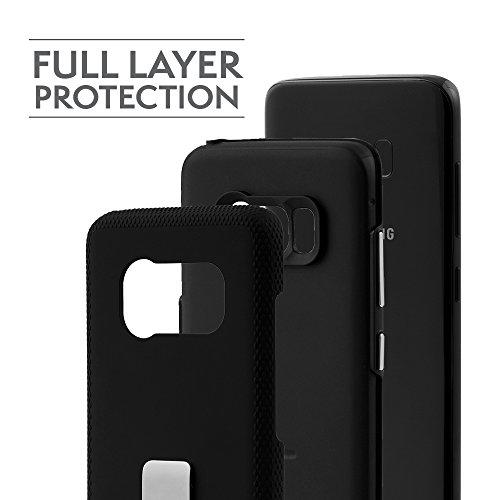 Case-Mate Wallet - Funda de piel para dinero para Samsung Galaxy S7, color negro Negro, Plata