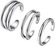 ChicSilver 925 Sterling Silver Toe Ring, Hypoallergenic Adjustable Band Ring