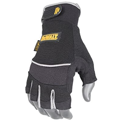 DeWalt Technicians Fingerless Synthetic Leather Glove