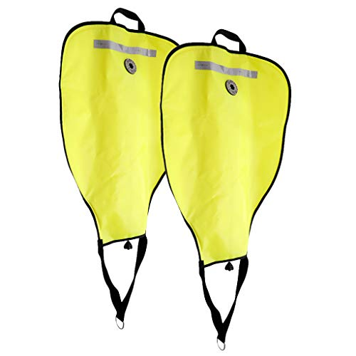(Prettyia (Pack of 2 Yellow Deluxe Nylon Diving SMB 50lbs Salvage Lift Bag & Over Pressure Valve Scuba Dive Underwater Treasure Find Safety Gear Equipment)